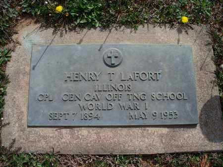 LAFORT, HENRY T   (VETERAN WWI) - Montgomery County, Kansas | HENRY T   (VETERAN WWI) LAFORT - Kansas Gravestone Photos