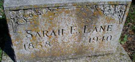 LANE, SARAH E - Montgomery County, Kansas | SARAH E LANE - Kansas Gravestone Photos