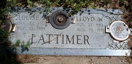 LATTIMER, LLOYD W - Montgomery County, Kansas | LLOYD W LATTIMER - Kansas Gravestone Photos