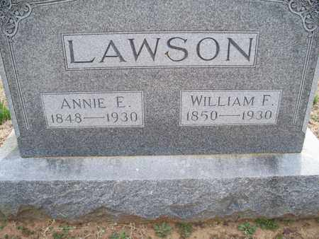 LAWSON, WILLIAM F - Montgomery County, Kansas | WILLIAM F LAWSON - Kansas Gravestone Photos