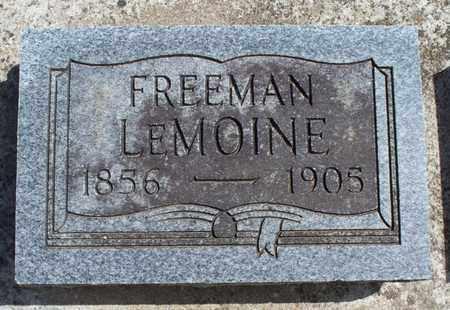 LEMOINE, FREEMAN - Montgomery County, Kansas | FREEMAN LEMOINE - Kansas Gravestone Photos