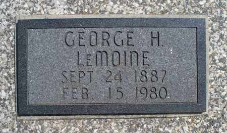 LEMOINE, GEORGE H - Montgomery County, Kansas | GEORGE H LEMOINE - Kansas Gravestone Photos
