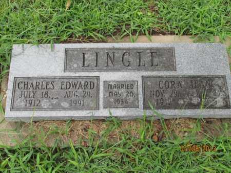 LINGLE, CHARLES EDWARD - Montgomery County, Kansas | CHARLES EDWARD LINGLE - Kansas Gravestone Photos
