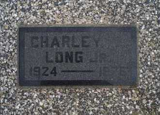 LONG, CHARLEY, JR - Montgomery County, Kansas | CHARLEY, JR LONG - Kansas Gravestone Photos