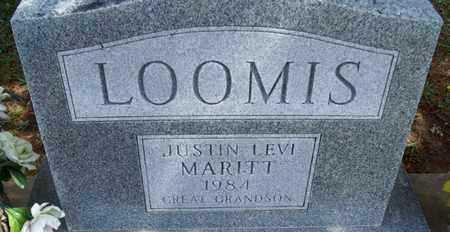 LOOMIS, JUSTIN LEVI MARITT - Montgomery County, Kansas | JUSTIN LEVI MARITT LOOMIS - Kansas Gravestone Photos