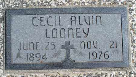 LOONEY, CECIL ALVIN - Montgomery County, Kansas | CECIL ALVIN LOONEY - Kansas Gravestone Photos