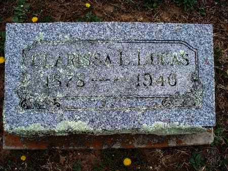 LUCAS, CLARISSA L - Montgomery County, Kansas | CLARISSA L LUCAS - Kansas Gravestone Photos