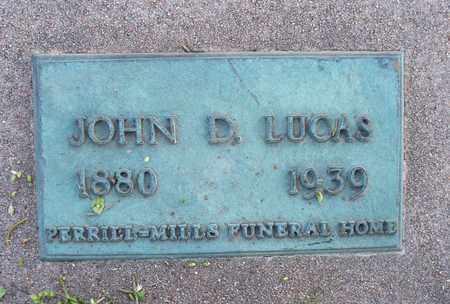 LUCAS, JOHN D - Montgomery County, Kansas | JOHN D LUCAS - Kansas Gravestone Photos