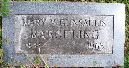 MAECHLING, MARY V - Montgomery County, Kansas | MARY V MAECHLING - Kansas Gravestone Photos