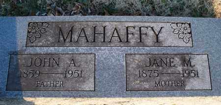 MAHAFFY, JOHN A - Montgomery County, Kansas | JOHN A MAHAFFY - Kansas Gravestone Photos