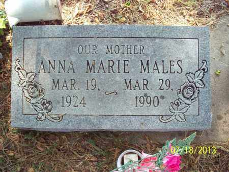 CRIMMINS MALES, ANNA MARIE - Montgomery County, Kansas | ANNA MARIE CRIMMINS MALES - Kansas Gravestone Photos