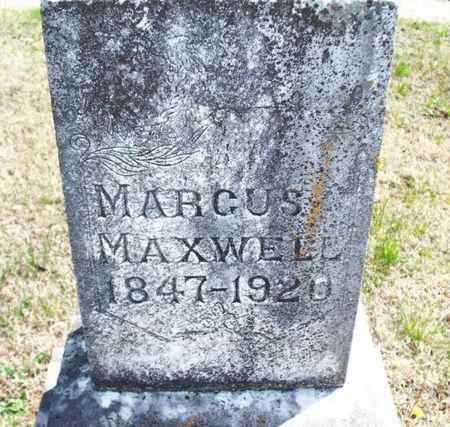 MAXWELL, MARCUS - Montgomery County, Kansas | MARCUS MAXWELL - Kansas Gravestone Photos