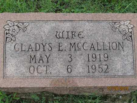 MCCALLION, GLADYS - Montgomery County, Kansas | GLADYS MCCALLION - Kansas Gravestone Photos