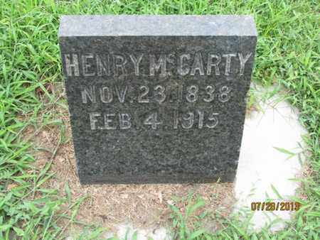 MCCARTY, HENRY - Montgomery County, Kansas | HENRY MCCARTY - Kansas Gravestone Photos