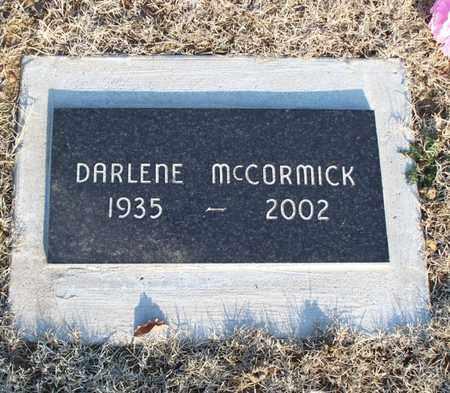 MCCORMICK, DARLENE - Montgomery County, Kansas | DARLENE MCCORMICK - Kansas Gravestone Photos