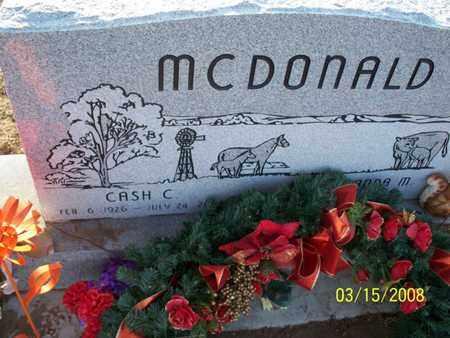 MCDONALD, CASH C - Montgomery County, Kansas | CASH C MCDONALD - Kansas Gravestone Photos
