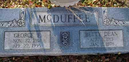 MCDUFFEE, BETTY DEAN - Montgomery County, Kansas | BETTY DEAN MCDUFFEE - Kansas Gravestone Photos