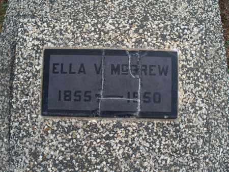 MCGREW, ELLA V - Montgomery County, Kansas | ELLA V MCGREW - Kansas Gravestone Photos