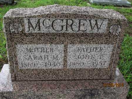 MCGREW, JOHN T - Montgomery County, Kansas | JOHN T MCGREW - Kansas Gravestone Photos
