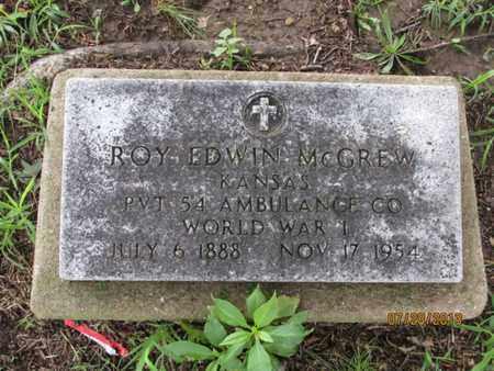MCGREW, ROY EDWIN  (VETERAN WWI) - Montgomery County, Kansas | ROY EDWIN  (VETERAN WWI) MCGREW - Kansas Gravestone Photos