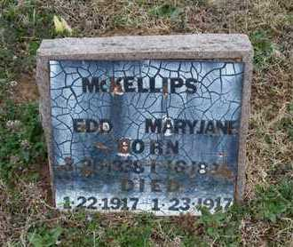 MCKELLIPS, MARY JANE - Montgomery County, Kansas | MARY JANE MCKELLIPS - Kansas Gravestone Photos
