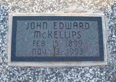 MCKELLIPS, JOHN EDWARD - Montgomery County, Kansas | JOHN EDWARD MCKELLIPS - Kansas Gravestone Photos