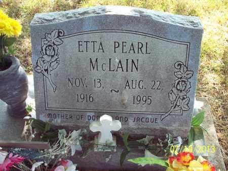 MCLAIN, ETTA PEARL - Montgomery County, Kansas | ETTA PEARL MCLAIN - Kansas Gravestone Photos