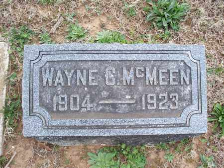 MCMEEN, WAYNE C - Montgomery County, Kansas | WAYNE C MCMEEN - Kansas Gravestone Photos