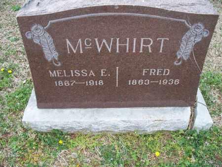 MCWHIRT, MELISSA E - Montgomery County, Kansas   MELISSA E MCWHIRT - Kansas Gravestone Photos