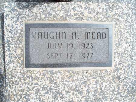 MEAD, VAUGHN A - Montgomery County, Kansas | VAUGHN A MEAD - Kansas Gravestone Photos