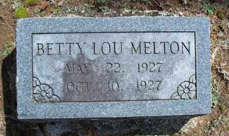 MELTON, BETTY LOU - Montgomery County, Kansas | BETTY LOU MELTON - Kansas Gravestone Photos