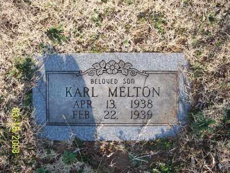 MELTON, KARL - Montgomery County, Kansas | KARL MELTON - Kansas Gravestone Photos