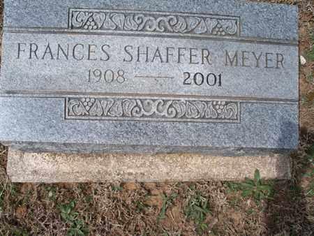 MEYER, FRANCES SHAFFER - Montgomery County, Kansas | FRANCES SHAFFER MEYER - Kansas Gravestone Photos