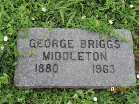 MIDDLETON, GEORGE BRIGGS - Montgomery County, Kansas | GEORGE BRIGGS MIDDLETON - Kansas Gravestone Photos