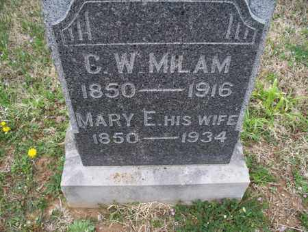 MILAM, MARY E - Montgomery County, Kansas | MARY E MILAM - Kansas Gravestone Photos