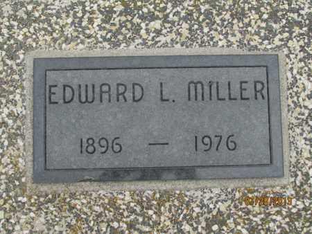 MILLER, EDWARD L. - Montgomery County, Kansas   EDWARD L. MILLER - Kansas Gravestone Photos