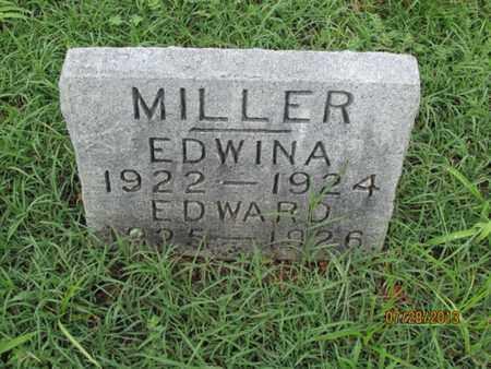 MILLER, EDWARD - Montgomery County, Kansas   EDWARD MILLER - Kansas Gravestone Photos