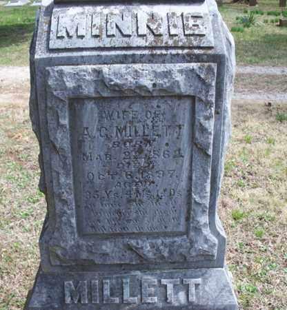 MILLETT, MINNIE - Montgomery County, Kansas | MINNIE MILLETT - Kansas Gravestone Photos