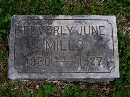 MILLS, BEVERLY JUNE - Montgomery County, Kansas | BEVERLY JUNE MILLS - Kansas Gravestone Photos