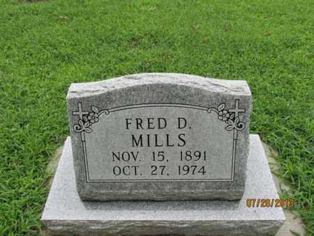 MILLS, FRED D - Montgomery County, Kansas   FRED D MILLS - Kansas Gravestone Photos