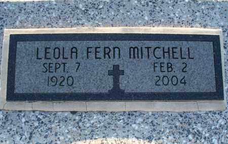 MITCHELL, LEOLA FERN - Montgomery County, Kansas | LEOLA FERN MITCHELL - Kansas Gravestone Photos