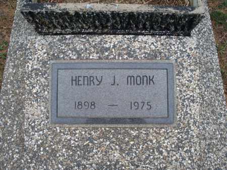 MONK, HENRY J - Montgomery County, Kansas | HENRY J MONK - Kansas Gravestone Photos