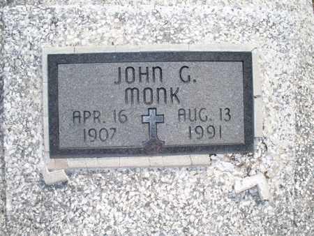 MONK, JOHN G - Montgomery County, Kansas | JOHN G MONK - Kansas Gravestone Photos