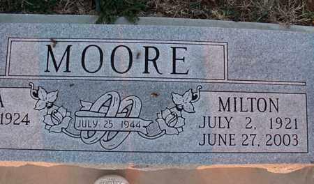 MOORE, MILTON - Montgomery County, Kansas   MILTON MOORE - Kansas Gravestone Photos