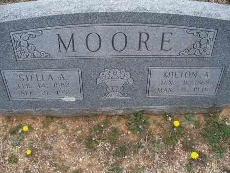 MOORE, STELLA A - Montgomery County, Kansas | STELLA A MOORE - Kansas Gravestone Photos