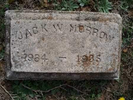 MORROW, JACK W - Montgomery County, Kansas | JACK W MORROW - Kansas Gravestone Photos