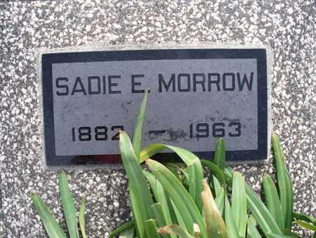 MORROW, SADIE E - Montgomery County, Kansas | SADIE E MORROW - Kansas Gravestone Photos