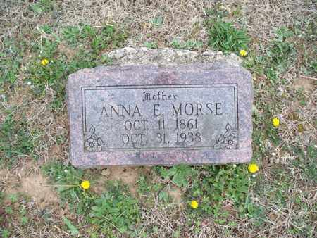 MORSE, ANNA E - Montgomery County, Kansas   ANNA E MORSE - Kansas Gravestone Photos