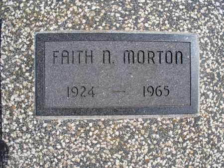MORTON, FAITH N - Montgomery County, Kansas | FAITH N MORTON - Kansas Gravestone Photos