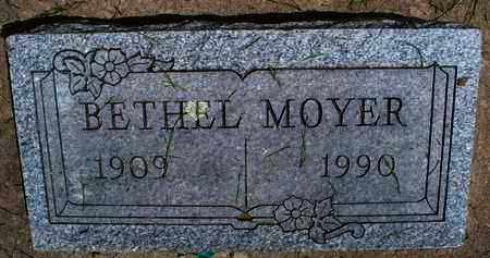 MOYER, BETHEL - Montgomery County, Kansas | BETHEL MOYER - Kansas Gravestone Photos